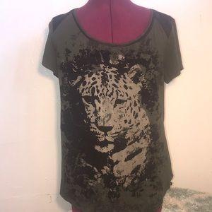 Rock & Revival velvet tiger tshirt size large